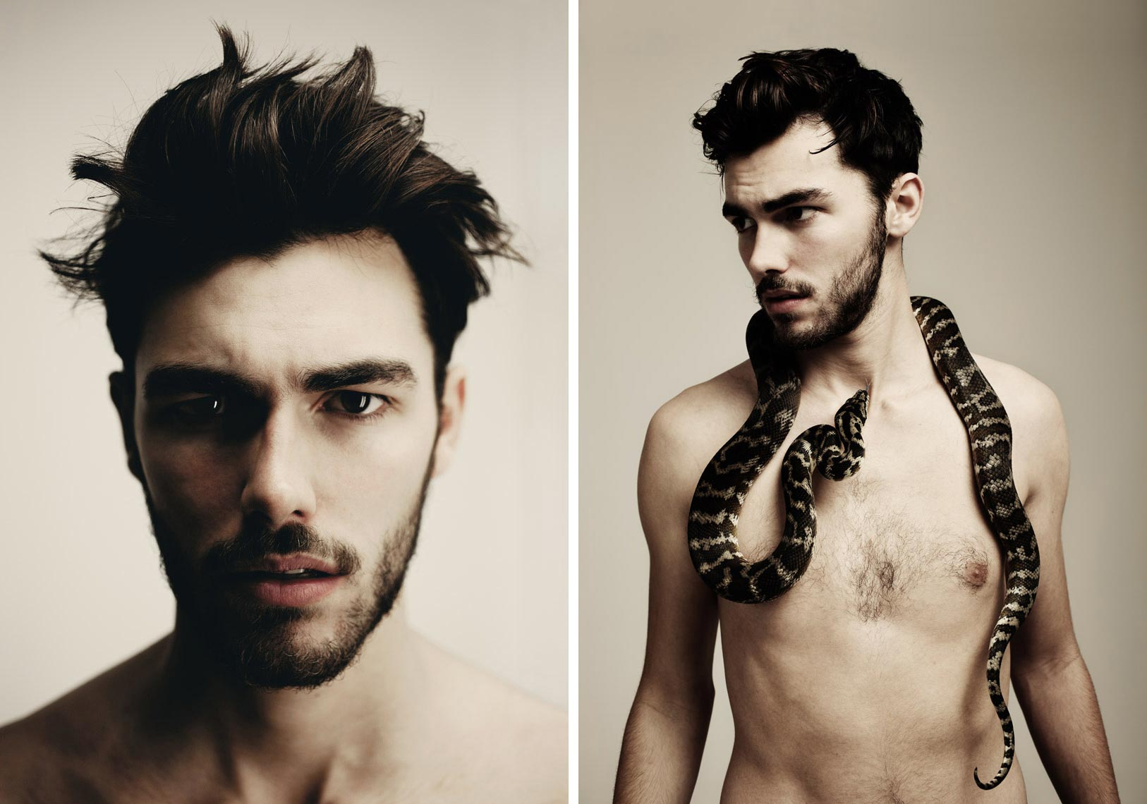 James with snake